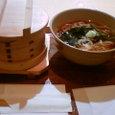 わっぱ飯と山菜ソバのセット(ふた付き)